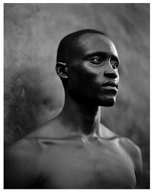 AR3168400009 Portrait of local Gambian man, Gambia, West Africa