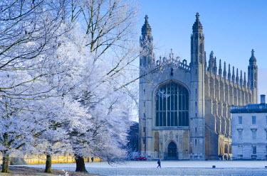 UK07028 UK, England, Cambridgeshire, Cambridge, The Backs, King's College Chapel in winter