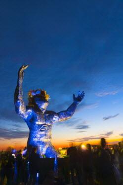 UK07013 UK, England, Wiltshire, Stonehenge, Summer Solstice Celebrations
