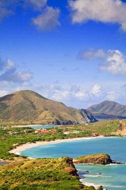 VN01045 Venezuela, Nueva Esparta, Isla De Margarita - Margarita Island, View of playas Puerto Viejo, Puerto Cruz and Playa Zaragoza
