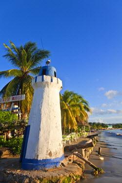 VN01301 Venezuela, Nueva Esparta, Isla De Margarita - Margarita Island, Juangriego, Mock  Llghthouse on beach front