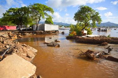 VN01294 Venezuela, Nueva Esparta, Isla De Margarita - Margarita Island, Juangriego, Flood damage