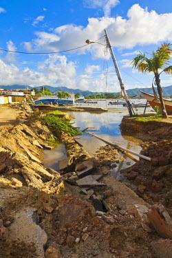 VN01295 Venezuela, Nueva Esparta, Isla De Margarita - Margarita Island, Juangriego, Flood damage