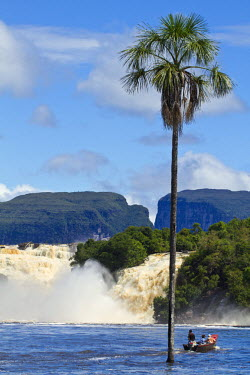 VN01272 Venezuela, Guayana, Canaima National Park, Canaima Lagoon, Hacha falls