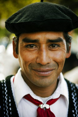 AR3292700022 Buenos Aires, Argentina; Portrait of a gaucho in Argentina.