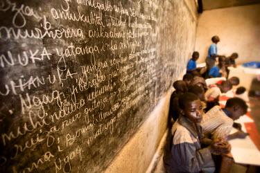 AR3321900019 Rugerero Genocide Survivor's Vil, Rwanda, Gisenyi: A one room school house in Rugerero Rwanda.