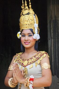 TPX22034 Cambodia, Siem Reap, Angkor Thom, Bayon Temple, Apsara Dancer