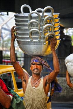 IND6265AW Streets of Kolkata. India