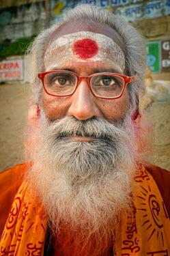 IND6306AW A sadhu (Holy man) of Varanasi, India