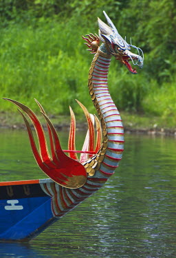 AS15_RTI0716 Asia, Japan, Kyoto, Mifune Matsuri Three Boat Festival), Figurehead on Boat Bow