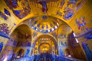 EU16_BJA0764 Europe, Italy, Venice. Interior of St. Marks Cathedral.