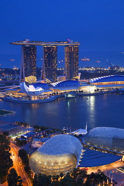 SP01209 Marina Bay Sands Hotel and Esplanade Theatre,  Singapore