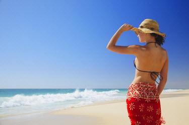 AUS1541AW Woman on Floreat beach, Perth, Western Australia, Australia (MR)