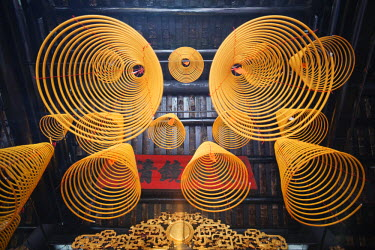 TPX22452 China, Macau, Sam Kai Vui Kun Temple, Incense Coils