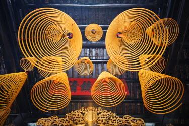 TPX22452 China, Macau, Sam Kai Vui Kun Temple, Incense Coils