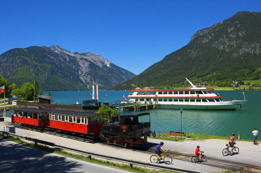 AUT0102AW Achensee Train in Pertisau, Lake Achensee, Tyrol, Austria