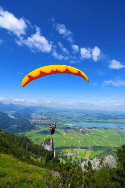 GER0274AW Paraglider at Tegelberg, Allgaeu, Bavaria, Germany