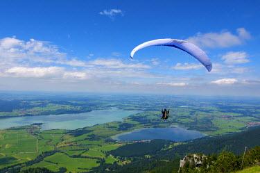 GER0393AW Paraglider at Tegelberg, Allgaeu, Bavaria, Germany