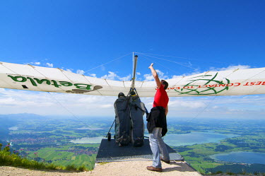 GER0442AW Paraglider at Tegelberg, Allgaeu, Bavaria, Germany