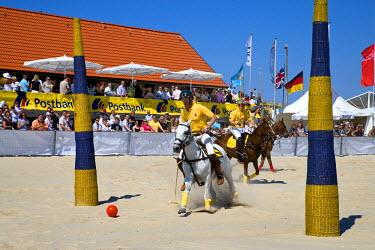 GER0568AW Beach Polo World Cup, Hornum, Sylt Island, North Frisian Islands, Schleswig Holstein, Germany