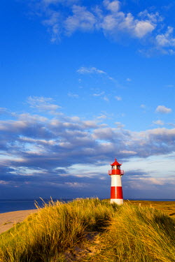 GER0603AW Lighthouse List east, Ellenbogen, Sylt Island, North Frisian Islands, Schleswig Holstein, Germany
