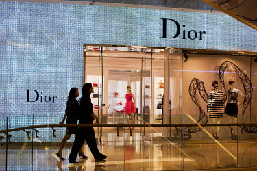 SNG1012 Singapore, Singapore, Orchard Road.  Dior boutique in the ION Ochard Mall.