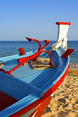POR0813AW Traditional fishing boats, Algarve, Portugal