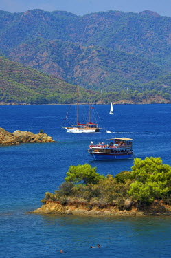 TUR0227AW Calis Beach Island, Adlar, 12 Islands Tour, Fethiye, Aegean, Turquoise Coast, Turkey