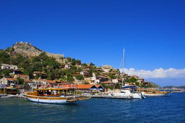 TUR0243AW Kale Caste, Port, Simena, Lykia, Turquoise Coast, Turkey