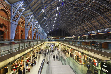 ENG9929 England, London. St. Pancras International, home of Eurostar and gateway to the Continent.