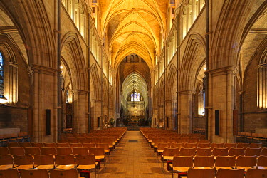 ENG9932 England, London. Southwark Cathedral or The Cathedral and Collegiate Church of St Saviour and St Mary Overie, Southwark, London, lies on the south bank of the River Thames close to London Bridge. It i...