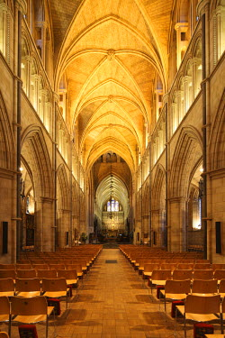 ENG9933 England, London. Southwark Cathedral or The Cathedral and Collegiate Church of St Saviour and St Mary Overie, Southwark, London, lies on the south bank of the River Thames close to London Bridge. It i...