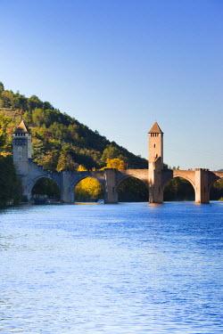 FR06321 France, Midi-Pyrenees Region, Lot Department, Cahors, Pont Valentre, midieval bridge, Lot River