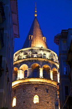 TK01428 Galata Tower, Beyoglu area, Istanbul, Turkey