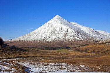SCO33137AW Glen Coe, Scotland. A view of Beinn Dorain over the moor.