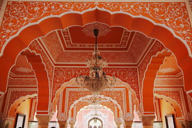 IND6792AW Diwan-i-Khas (Hall of Private Audience), City Palace, Jaipur, Rajasthan, India