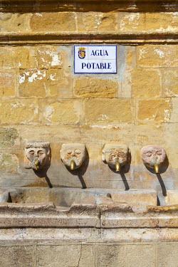 ES05568 Roman water fountain in central square, Grazalema, Cadiz Province, Andalusia, Spain