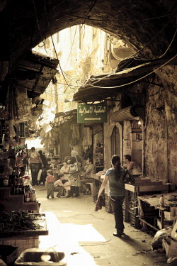 LB02080 Lebanon, Tripoli, Old Town, souq (market)