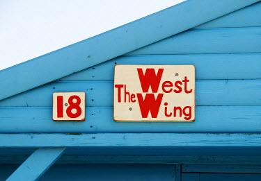 ENG10138AW Beach huts, Whitstable, Kent, UK