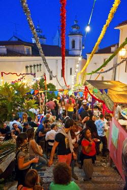 POR6538AW Santo Antonio festivities in Alfama quarter. Lisbon, Portugal