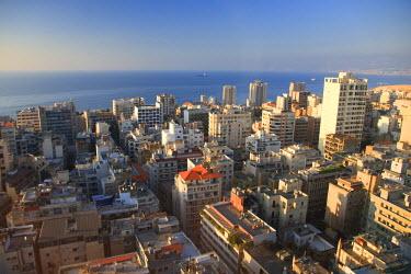 LB005RF Lebanon, Beirut, aerial view