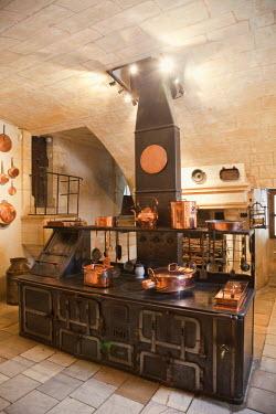 TPX25262 France, Loire Valley, Chenonceau Castle, The Kitchen