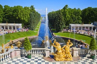 RU02179 Russia, St Petersburg, Peterhof Palace(Petrodvorets) Grand Cascade
