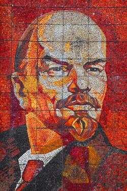 RU06031 Russia, Black Sea Coast, Sochi, Riviera Park, revolutionary mosaic of Vladimir Lenin