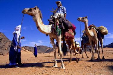 LIB1459AW Tuareg in the Sahara Desert, Libya