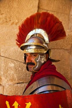 JD07097 Jordan, Jerash, Roman Army and Chariot Experience, Roman Centurion (MR)