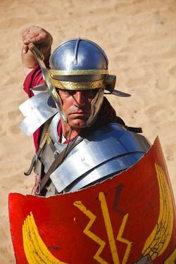 JD07098 Jordan, Jerash, Roman Army and Chariot Experience, Roman-era military show