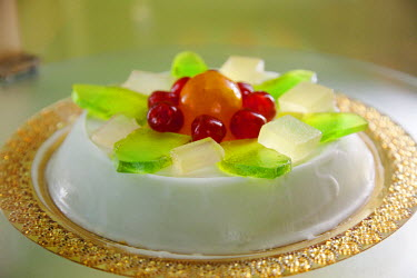 IT9493 Sicily, Italy, Western Europe; 'Cassata Siciliana', one of the staple items of typical Sicilian sweets