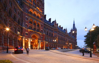 ENG10204 St. Pancras Renaissance Hotel has been recently refurbished and re-opened. It is part of the station complex which is home of the Eurostar and gateway to the continent.