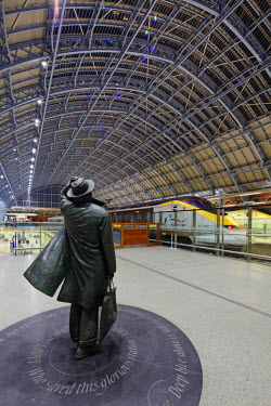 ENG10206 St. Pancras International is the home of Eurostar and gateway to Paris.
